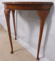 Yew Wood Console Table with Bowfront